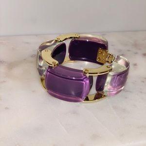 Purple/Gold Bracelet